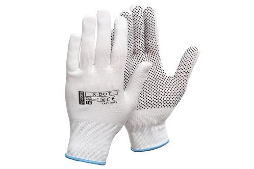 Rękawice wykonane z poliestru z jednostronnym mikro nakropieniem