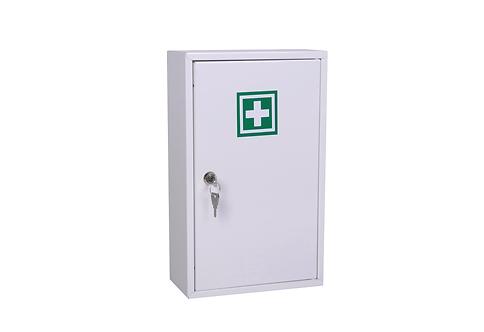Apteczka pierwszej pomocy w metalowej szafce z wyposażeniem DIN 13164 PLUS