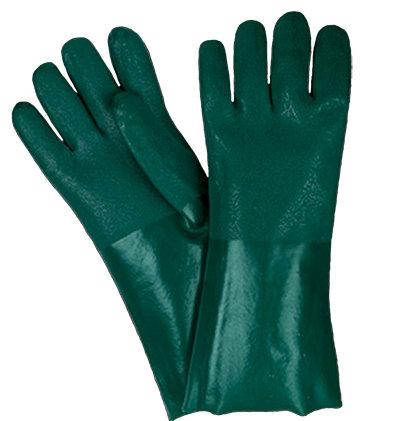 Rękawica wykonana z zielonego PCV
