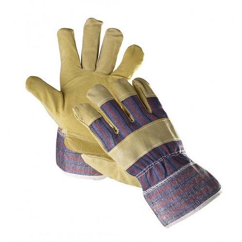 Rękawice z tkaniny wzmacniane dwoiną bydlęcą