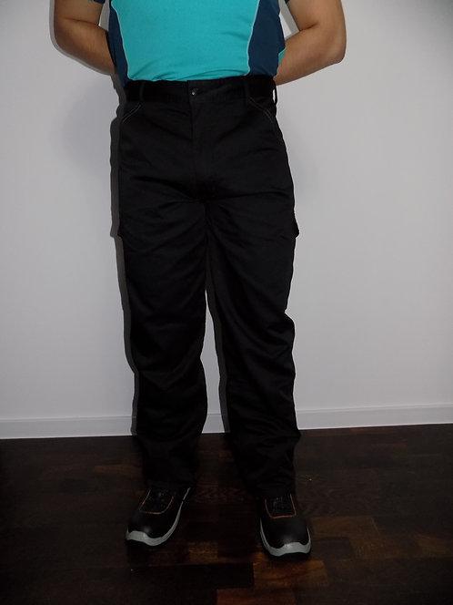 Spodnie do pasa czarne CARGO regular