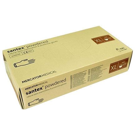 SANTEX POWDERED pudrowane rękawice lateksowe