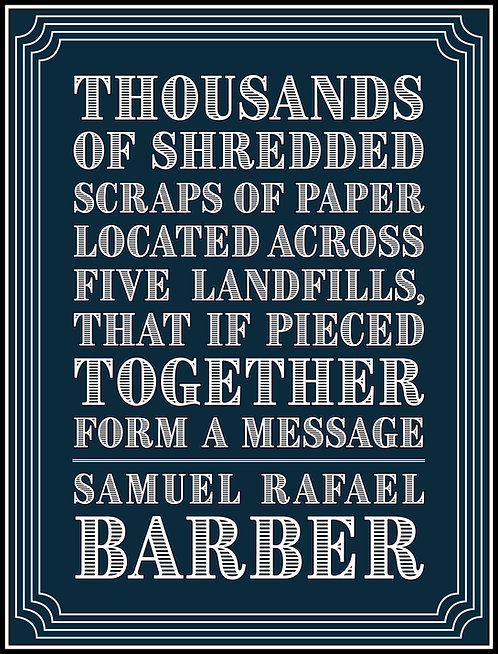 Thousands of Shredded Scraps [...] by Samuel Rafael Barber