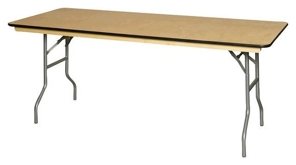 "Table, 4' Rectangle Wood (30""x48"") $7.70"