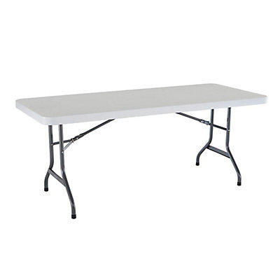 "Table, 6' Rectangle Plastic (30""x72"") $7.95"