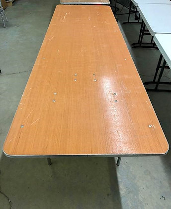 """8'x 30"""" Wood Table (SALE ONLY)"""