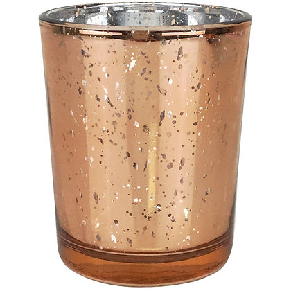 Votive Candle Holder, Mercury Rose Gold $1.10 each