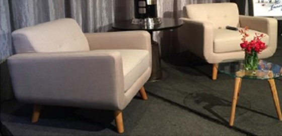 FOR SALE: Dewall Armchair, Beige $396 each ( 3 available)
