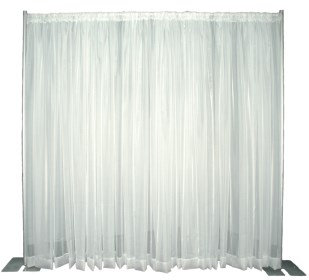 Sheer White Drapery, please call for pricing
