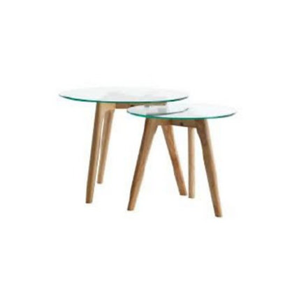 Glass Top Side Table, Nesting Table (set of two), $42.40