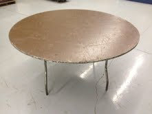 """48"""" Round Wood Table (SALE ONLY)"""