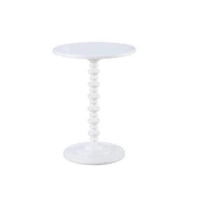 Spindle Side Table, White