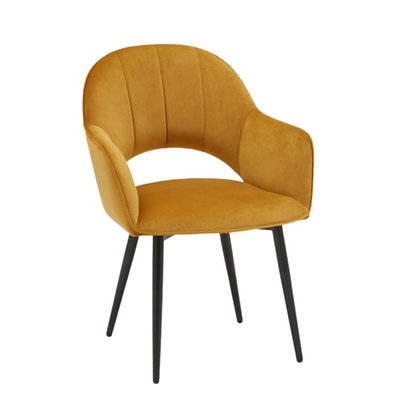 Sophia Lounge Chair, Mustard