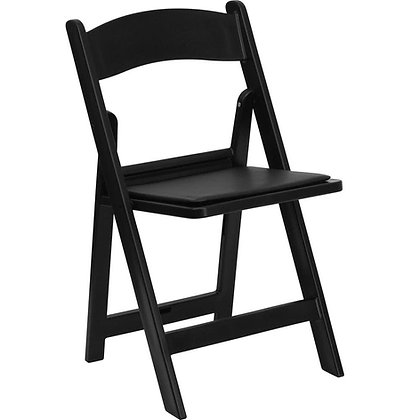 Chair, Padded Folding (black) $3.75 each