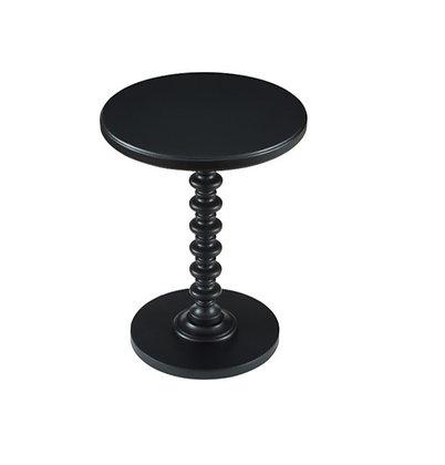 Spindle Side Table, Black
