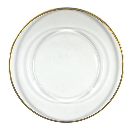 Charger Plate, Gold Rim $3.15each