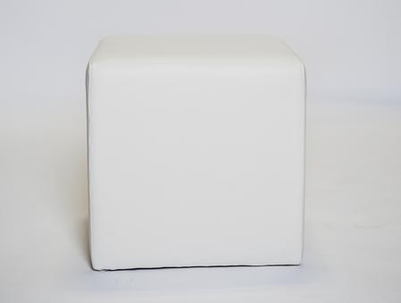 White cube ottoman, $26.50 each