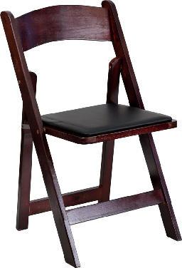 Chair, Padded Folding (mahogany) $3.75