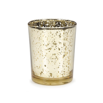 Votive Candle Holder, Mercury Gold $1.10 each