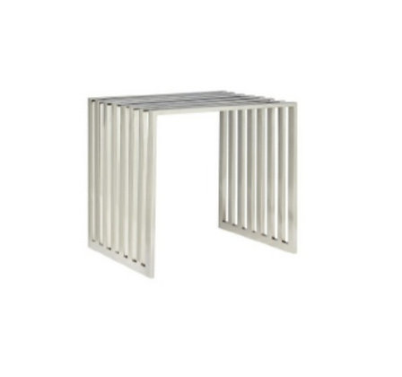 Grill Side Table Silver