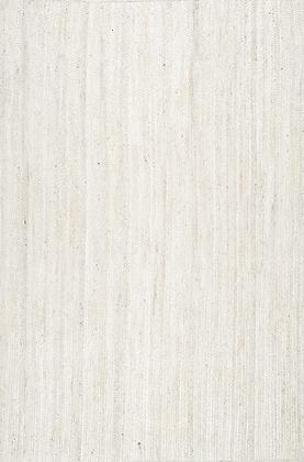 Hand Braided Jute Rug (off white), 8'x10'