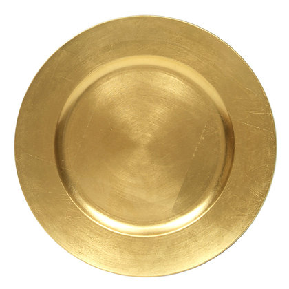 Charger Plate, Gold $1.10 each