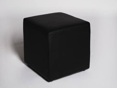 Black cube ottoman, $26.50 each