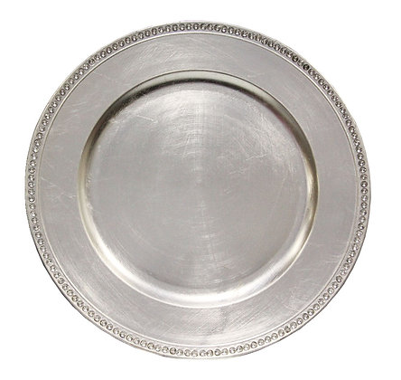 Charger Plate, Silver Bling $1.10 each