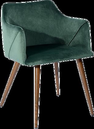 Bella, side chair (emerald)
