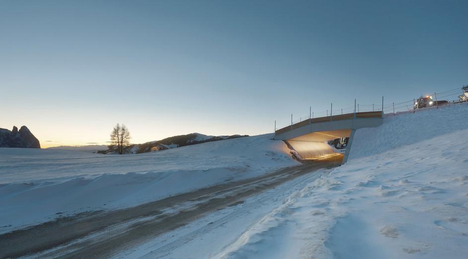 Sottopassaggio pista da sci