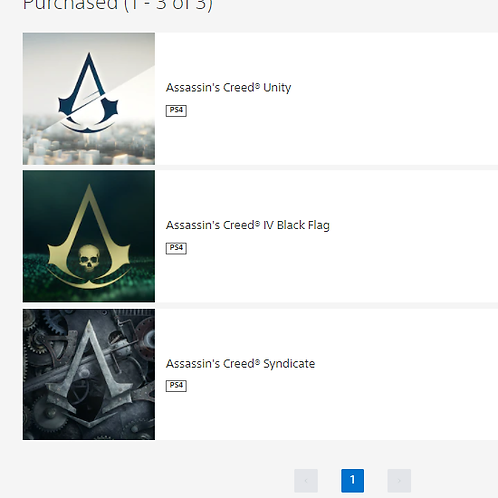 PACK ASSASSINS CREED