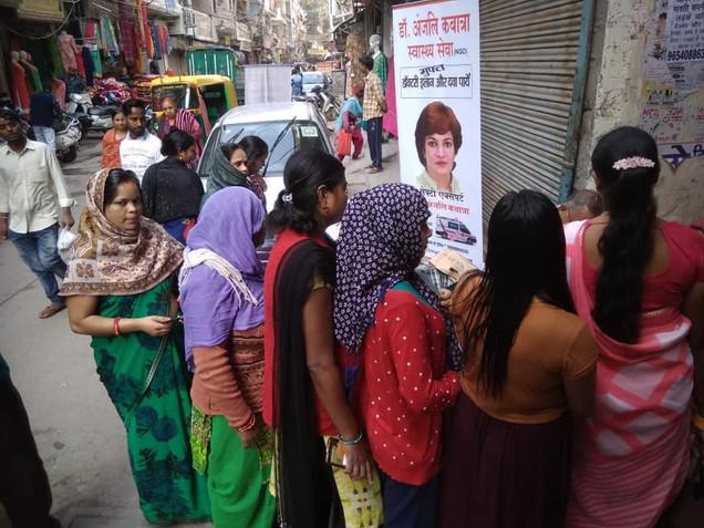 Nari Swasthya, Nishulk Chikitsa Shivir, New Delhi