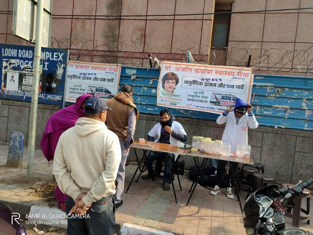 Roadside Swasthya Shivir, New Delhi
