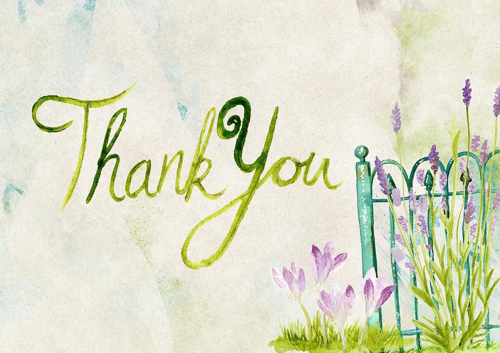Thank you sur fond pastel