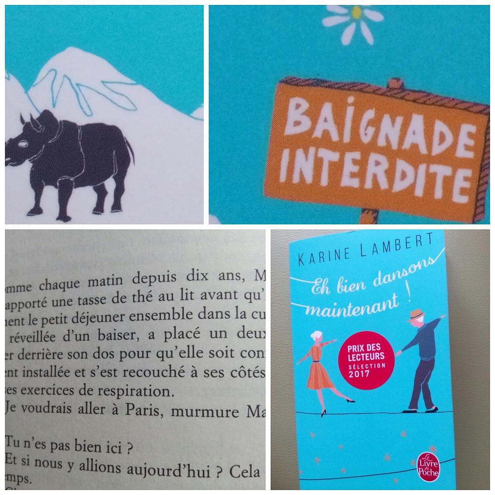 Collage autour du livre -Eh bien dansons maintenant- de Karine Lambert