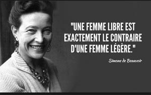 Portrait de Simone de Beauvoir