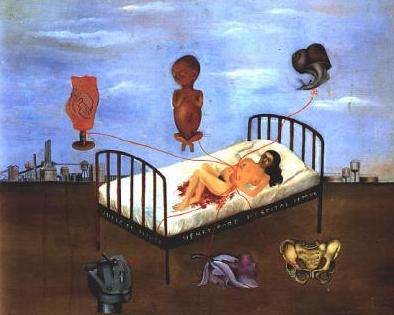 """Peinture de Frida Kahlo """" Lhôpital """""""