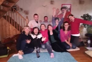 groupe de stagiaires avec Véronique Février-Martin