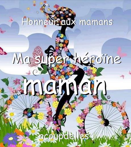 Une jeune femme à vélo tout fleuri, ma super héroïne maman