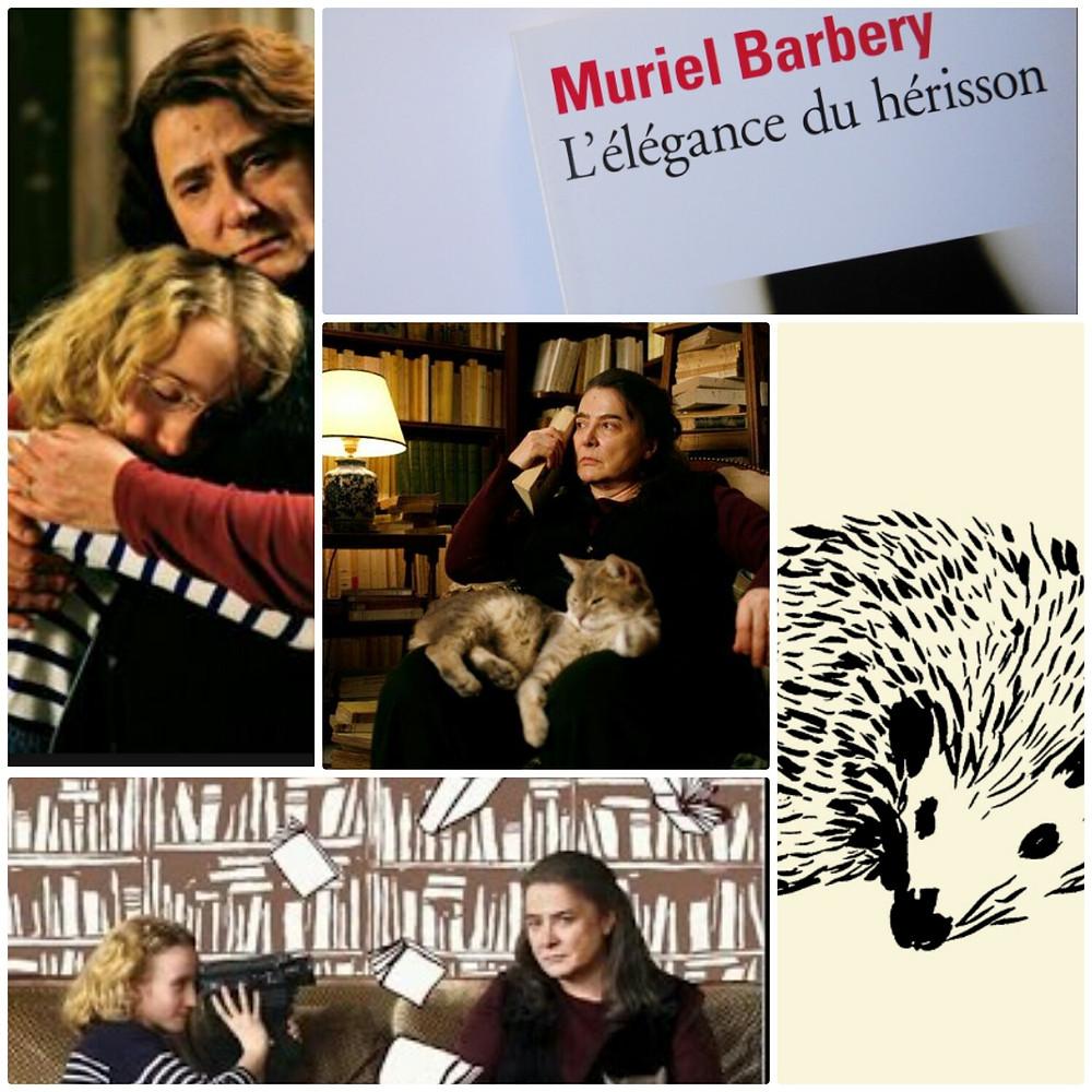Collage autour du livre et du film L'élégance du hérisson