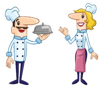 Femme et homme cuisiniers