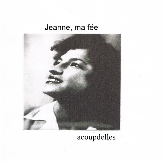 Portrait en noir et blanc de Jeanne ma maman