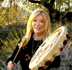 Lynn V. Andrews et son tambour
