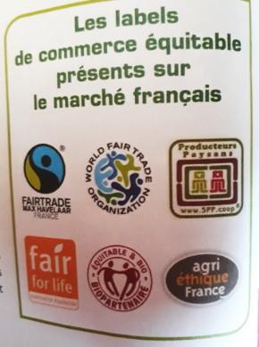 6 labels de commerce équitable présents sur le marché français