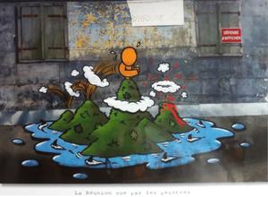carte postale de la série La Réunion vue par les peintres