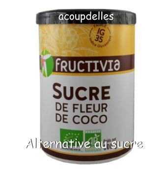 pot de sucre de fleur de coco de la marque fructivia