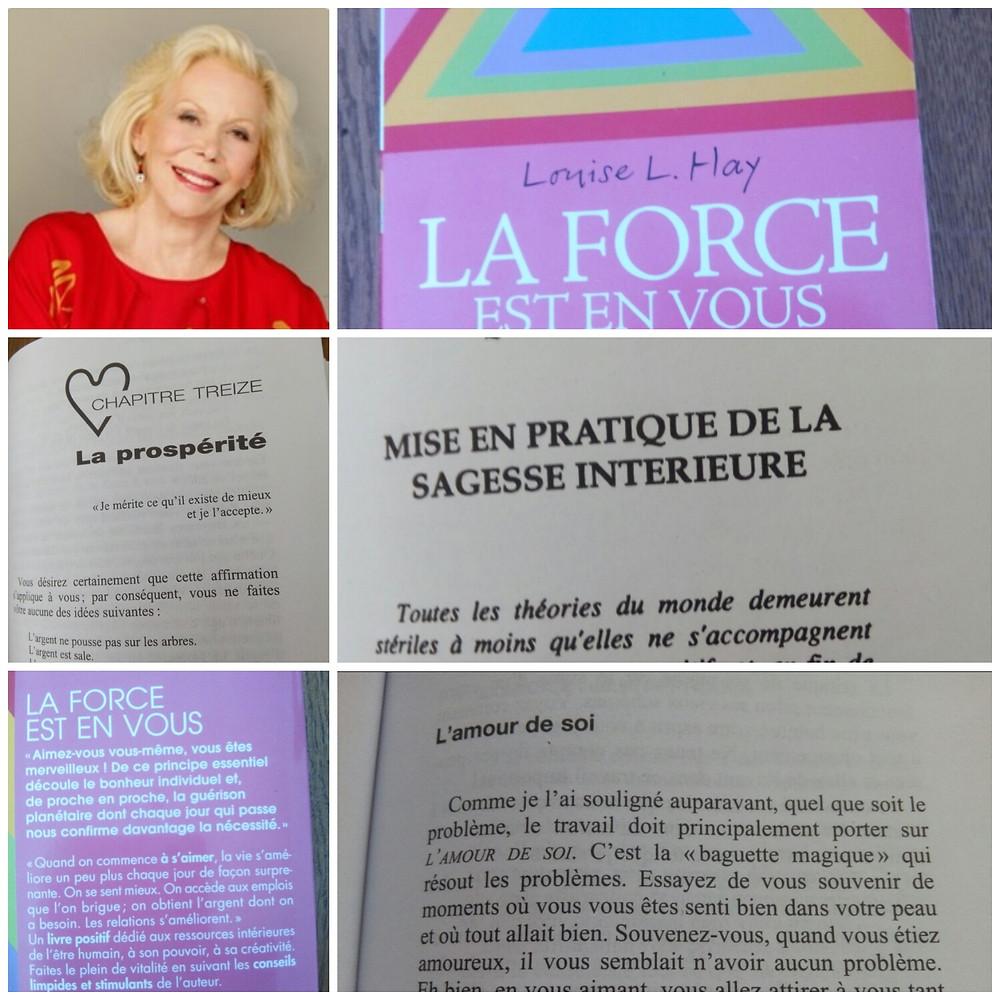 Collage autour du livre de Louise Hay: La force est en vous