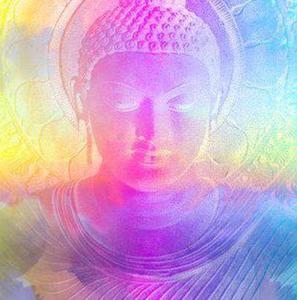une tête de bouddha couleurs pastel pour lien avec FB de Claudine