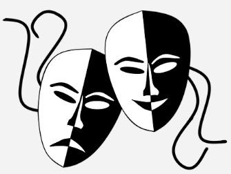Deux masques en noir et blanc
