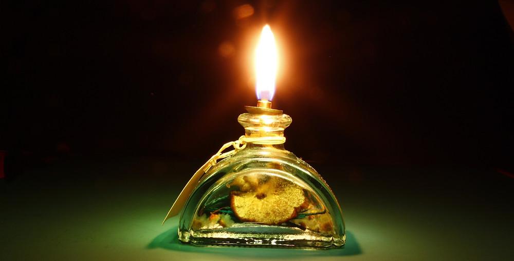lampe à huile à l'ancienne